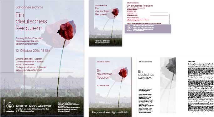 Johannes Brahms, Ein deutsches Requiem, Frankfurt 2015, Plakat, Postkarte, Programmheft