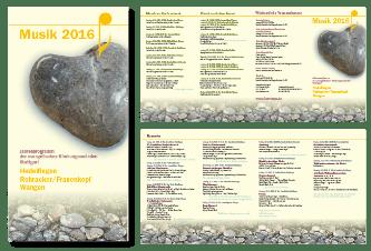 8-seitiger Flyer DIN lang Das Jahresprogramm von Manuela Naegele steht unter einem bestimmten Thema