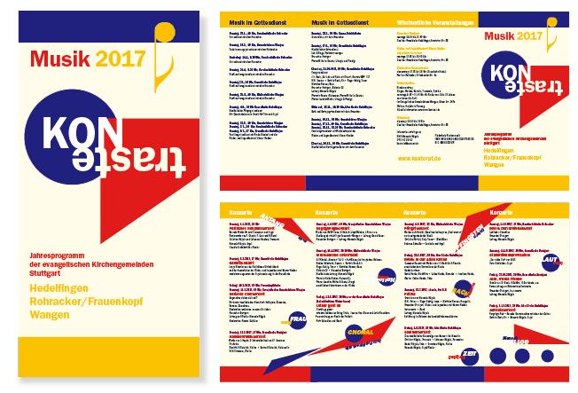 Flyer für das Musikprogramm der Kirchengemeinde Hedelfingen