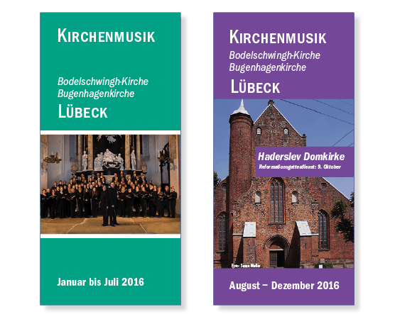 Flyer Kirchenmusik Lübeck