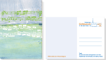 Postkartenserie Förderkreis Kirchenmusik, Illustrationen Felice Meer