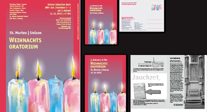 Weihnachtsoratorium in Uelzen, 2017, Plakat, Postkarte Programmheft