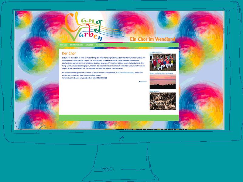 clangvarben Webseite des Chores