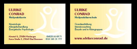 Ulrike Conrad, Heilpraktikerinin