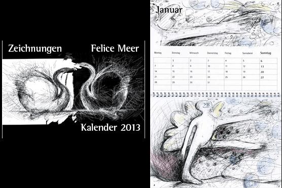 Kalender 2013 Zeichnungen von Felice Meer