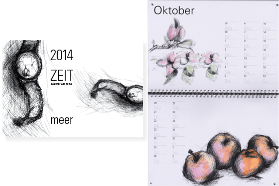Kalender 2014 Illustrationen Felice Meer