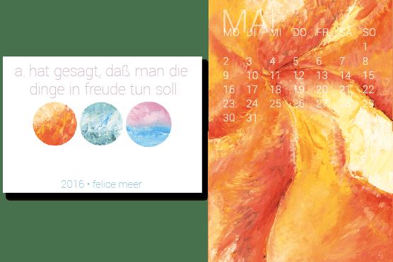 Kalender 2016 Malerei in Öl
