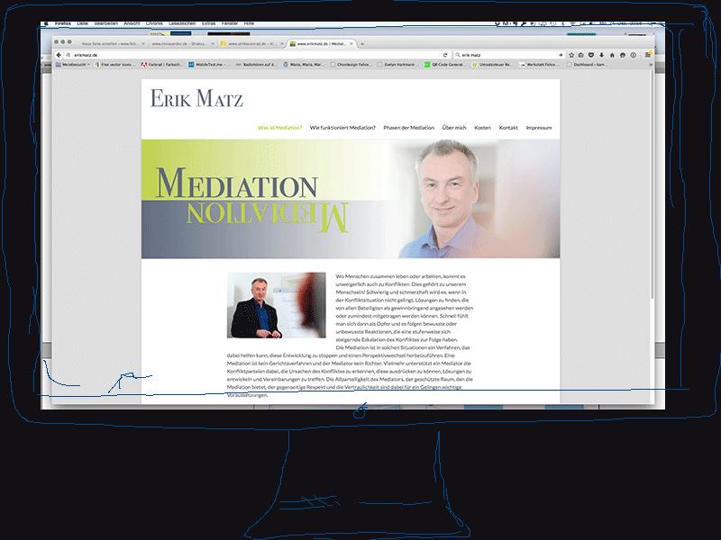 Erik Matz, Webseite