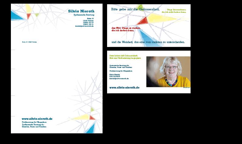 Silvia Nierath, Postkarte und Briefbogen