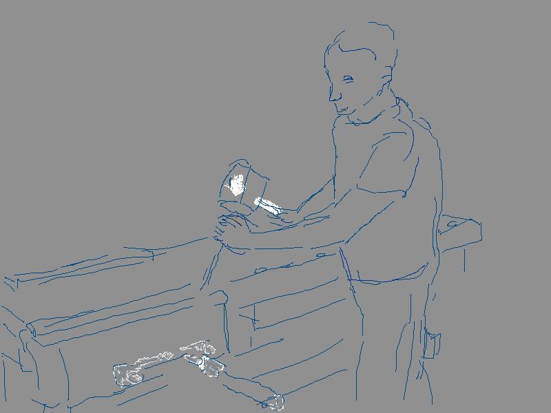 Illustration Felice Meer Tischlerwerkstatt