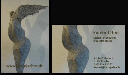 Visitenkarten für die Bildhauerin, Werkkatalog, Webseite