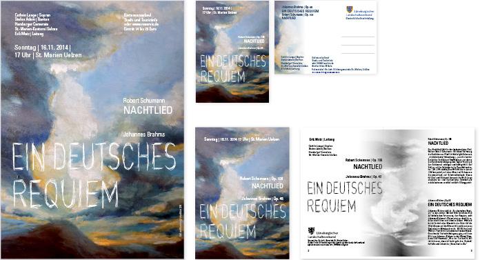 Johannes Brahms, Ein Deutsches Requiem, Plakat, Postkarte, Programmheft
