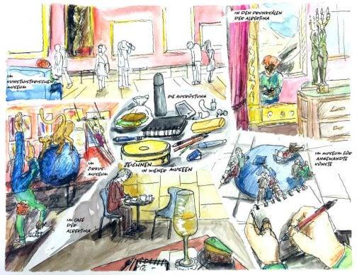 Zeichnen in Wiener Museen