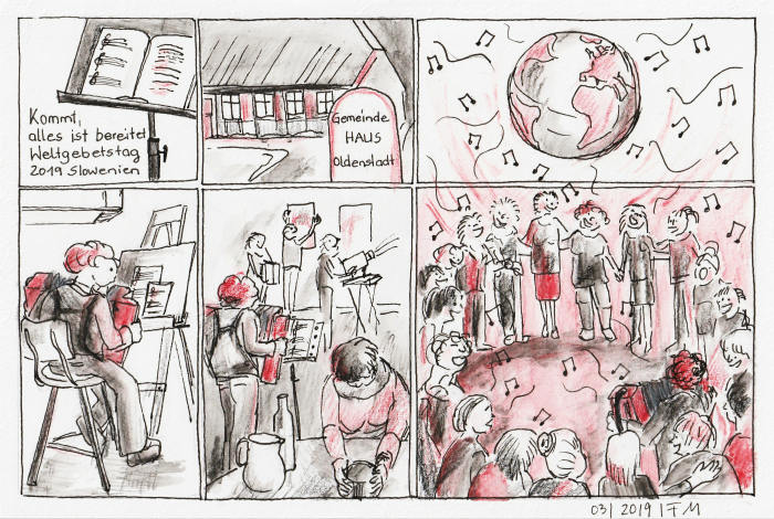Weltgebetstag Vorbereitung Comic