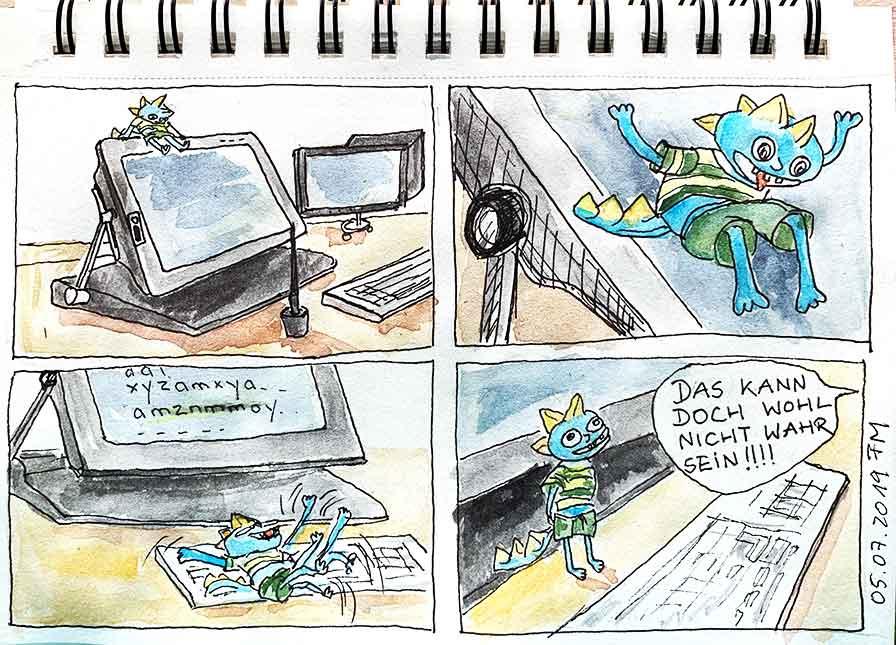 Menno und das Cintiq, Comic