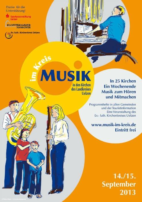 Illustration Chor orgel Blech