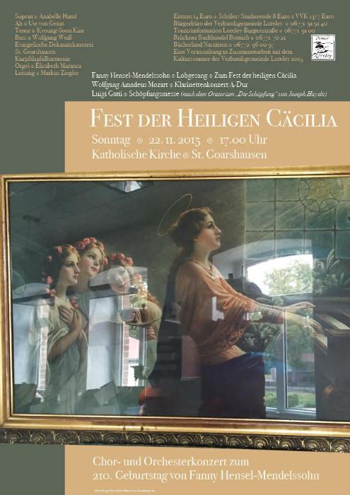 Fest der hl. Cäcilia Plakat