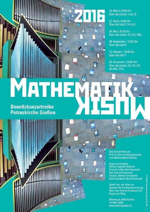 Mathematik und Musik Plakat