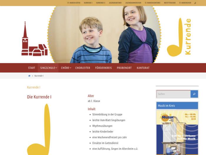 Singschule Webseite