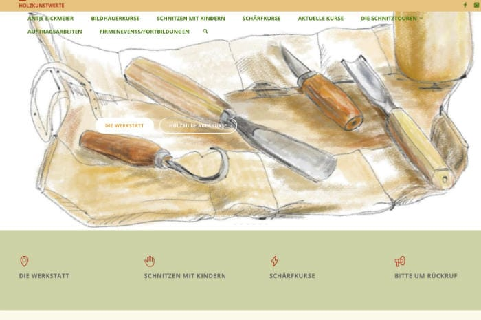 Schnitzen Webseite