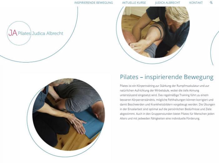 Pilates Webseite