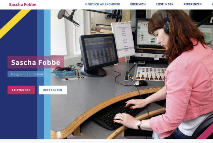 Journalistin Webseite