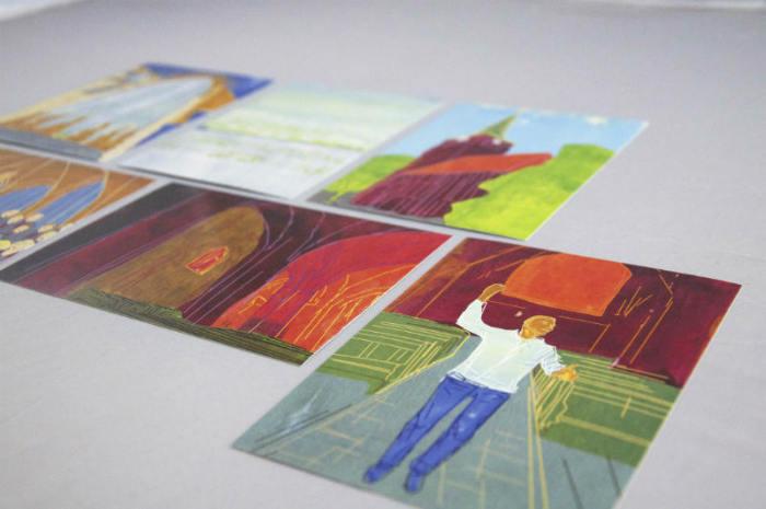 Chor Musik Postkartenserie
