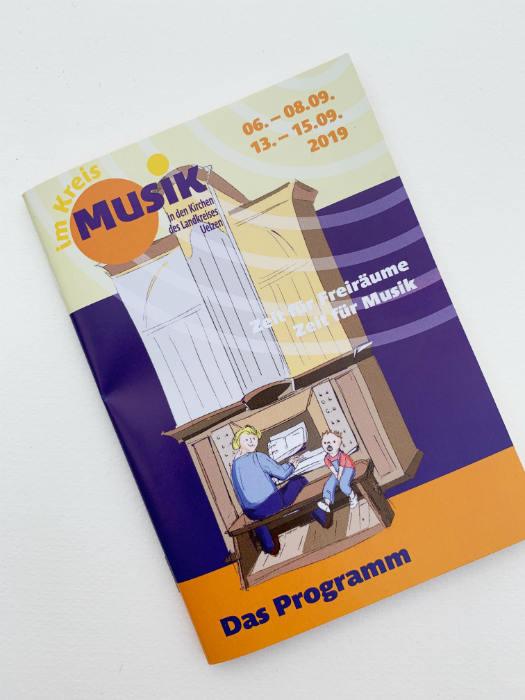 Programmheft Musik im Kreis Illustration Orgel