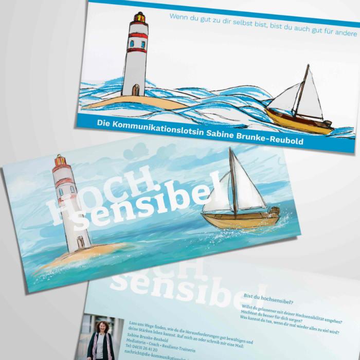 Coaching hochsensibel Postkarte