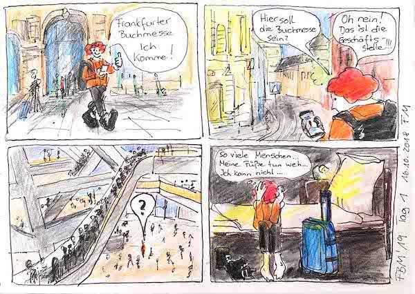Frankfurter Buchmesse, 1. Tag, Comic