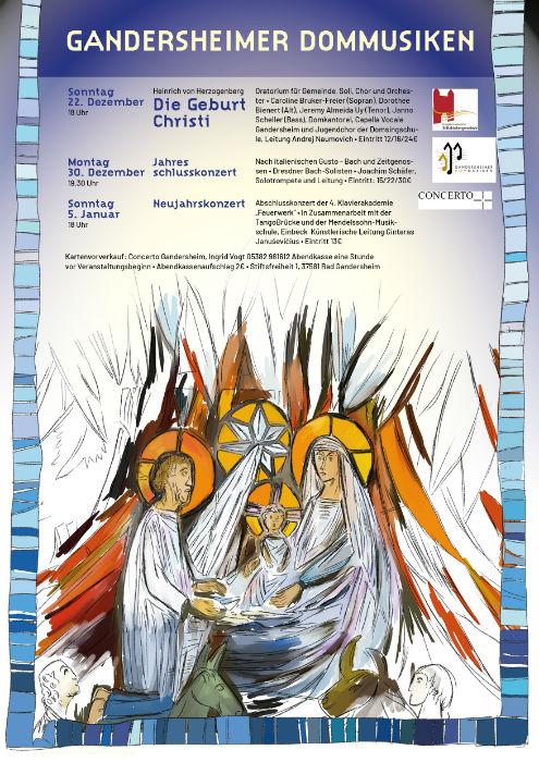 Gandersheimer Dommusiken, Plakat mit Grafik Fenster