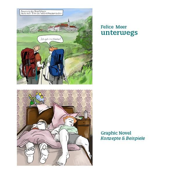 Wandern über die Alpen Comic