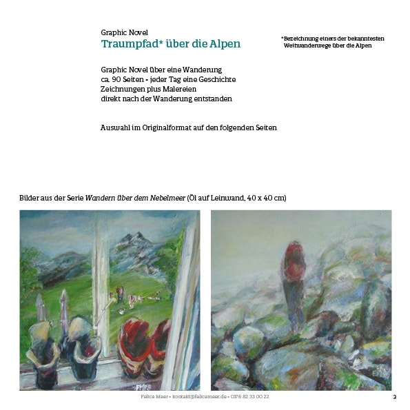 Alpenwandern Comic