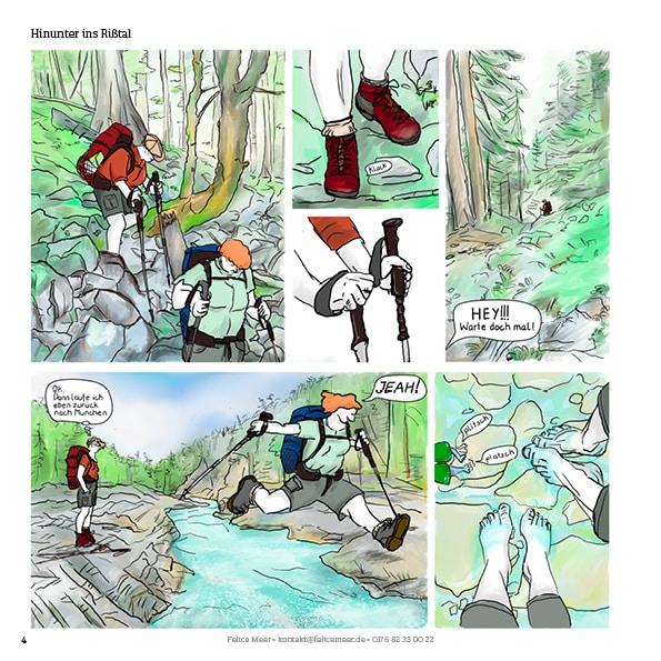 Traumpfad über die Alpen Comic