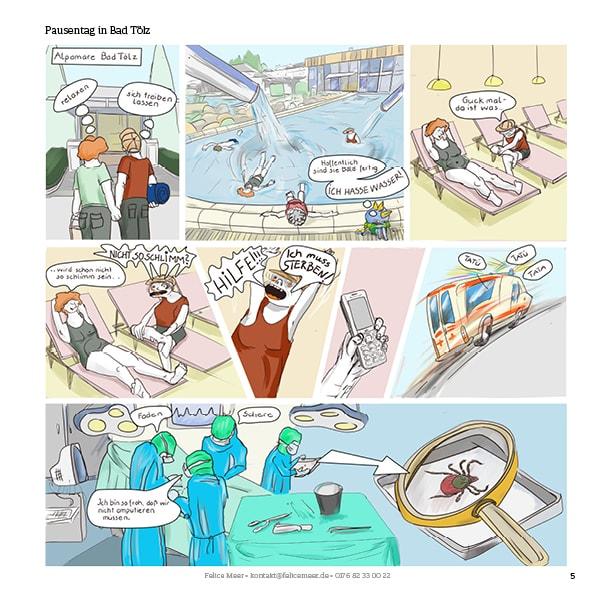 Zu zweit über die Alpen Comic