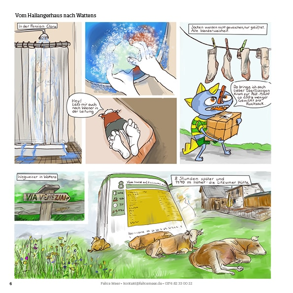 Vom Hallangerhaus nach Wattens Graphic Novel