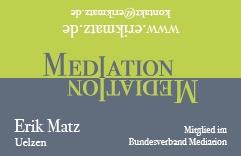 Mediation Visitenkarte Uelzen Erik Matz