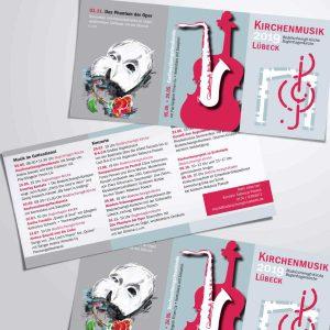 Programm Musik Lübeck Postkarte