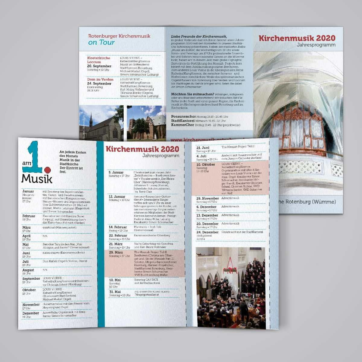 Programm Kirchenmusik Flyer Rotenburg